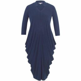 Chesca Notch Neck Jersey Drape Dress