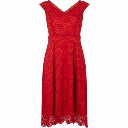 Sistaglam loves Jessica V neck fit and flare dress