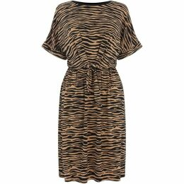 Warehouse Tiger Tie Front T-Shirt Dress