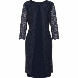 Gina Bacconi Dailyn Crepe And Lace Dress