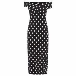 Oasis Spot Bardot Tube Dress