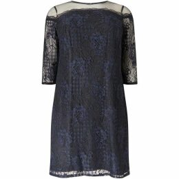 Adrianna Papell three quarter Sleeve Lace Dress