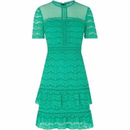 Whistles Indira Lace Ruffle Dress