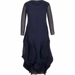Chesca Matt Crepe Chiffon Flounce Trim Dress