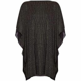 Mela Metallic Ruffle Sleeve Tunic Dress