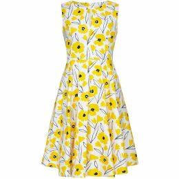 Yumi Sketchy Flower Cotton Skater Dress