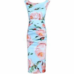 Jolie Moi Floral Print Ruched Shift Dress