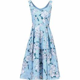 Jolie Moi Retro Floral Textured Prom Dress