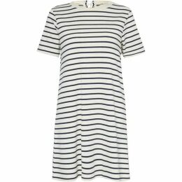 Great Plains Lace Up Stripe Mini Dress