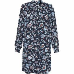 Great Plains Moray Tie Neck Smock Dress