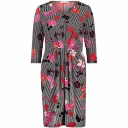 Betty Barclay Floral Stripe Dress