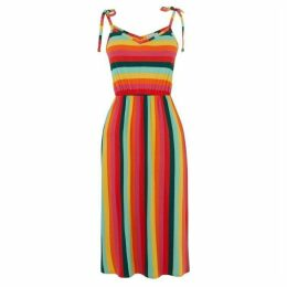 Warehouse Rainbow Stripe Cami Dress