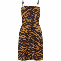 Warehouse Tiger Tie Back Mini Dress