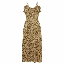 Warehouse Leopard Print Frill Cami Dress