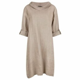 James Lakeland Cowl Neck Linen Dress