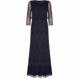 Adrianna Papell Bead Mesh Dress