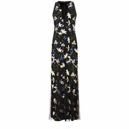 Adrianna Papell Sequin Embroidery Dress