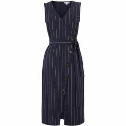 Warehouse Stripe Button Detail Dress