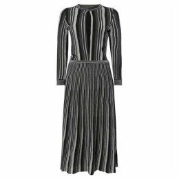 Marella Paneton striped knitted dress