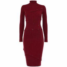 Damsel in a Dress Mara Button Detail Ribbed Knit Dress