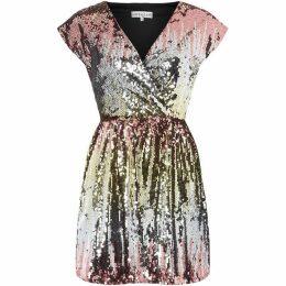 Sistaglam loves Jessica V neck sequin dress