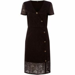 Vero Moda Lace Button V-Neck Dress
