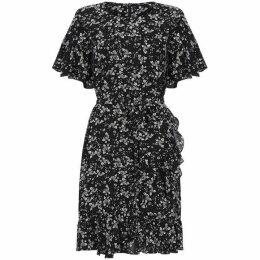 Yumi Floral Print Ruffle Dress