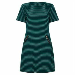 Yumi Curves Stripe Zip Detail Dress