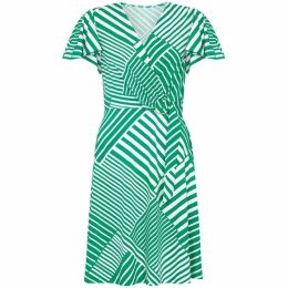 Yumi Diagonal Stripe Wrap Dress