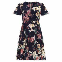 Yumi Bird & Flower Print Dress