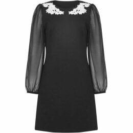 Yumi Applique Flower Tunic Dress