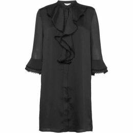 Great Plains Textured Collarless Shirt Dress