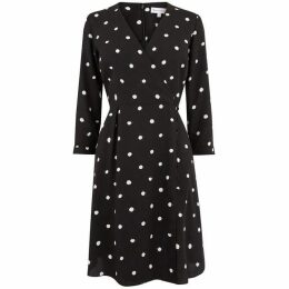 Warehouse Spot Mini Wrap Dress
