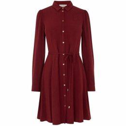 Oasis Button Through Textured Skater Dress