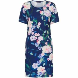 HotSquash Short Sleeve Crepe Riviera Dress
