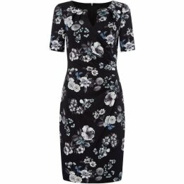Adrianna Papell V neck short sleeve wrap dress
