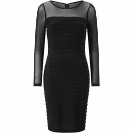 Adrianna Papell Long Sleeve Pin-Tuck Cocktail Dress