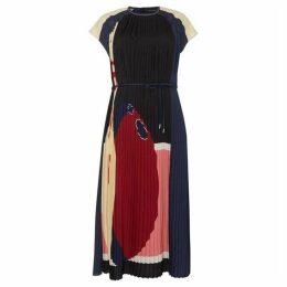 Sportmax Elia pleated cap sleeve dress