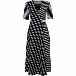Max Mara Weekend Ada fit and flare v neck dress