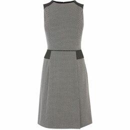 Oasis Mono Jacquard Dress