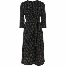 Warehouse Snake Print Twist Knot Dress