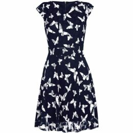 Yumi Curves In Flight Butterfly Skater Dress