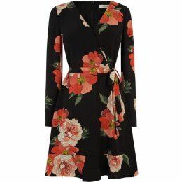 Oasis Bold Bloom V Neck Skater Dress