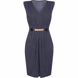 Mela Striped Bodycon Dress With Belt Detail