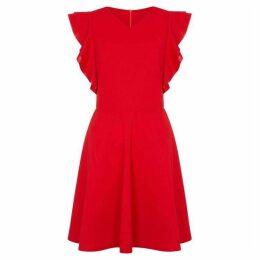 Mela Side Ruffle V Neck Dress