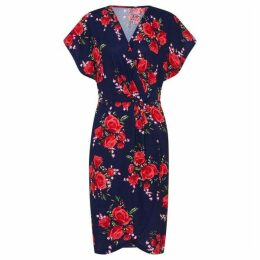 Mela Wrap Effect Dress