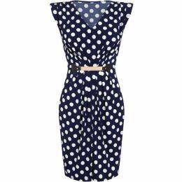 Mela Polka Dot Spot Belted Dress