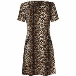 Yumi Leopard Print Tunic Dress