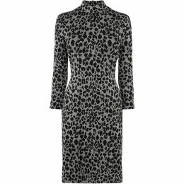 Warehouse Animal Jacquard Dress