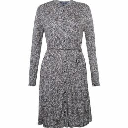 French Connection Brunella Meadow Leopard Shirt Dress